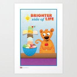 Brighter Side of Life. Ice Cream! Art Print