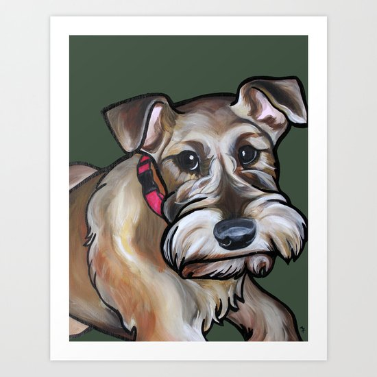 Maggie the irish terrier Art Print