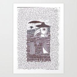 Plague Fashion Art Print
