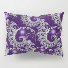 Purple Nautilus Fractals Pillow Sham
