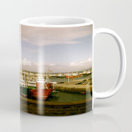 Boats Bobbing in the Blue of the Bay Coffee Mug