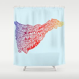 Tenerife In Words Shower Curtain