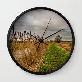 Rural River Wall Clock