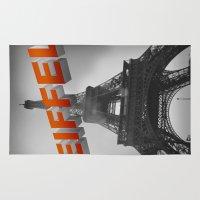 eiffel Area & Throw Rugs featuring Eiffel by Vin Zzep