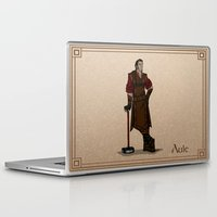 valar morghulis Laptop & iPad Skins featuring Aule by wolfanita