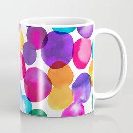 Bold & Colourful Rainbow Spot Patten Coffee Mug