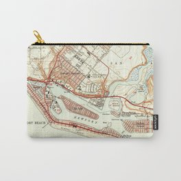 Vintage Map of Newport Beach California (1951) Carry-All Pouch