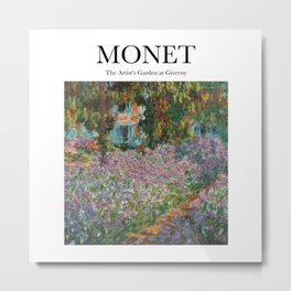 Monet - The Artist's Garden at Giverny Metal Print