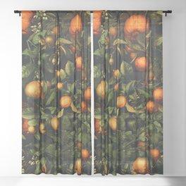 Vintage Fruit Pattern XX Sheer Curtain