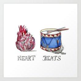 heart beats Art Print