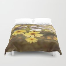 Five Flowers Duvet Cover