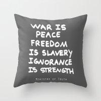 1984 Throw Pillows featuring 1984 by Stephanie Janeczek