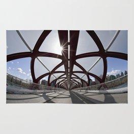 Calgary Peace Bridge; great Architecture Rug