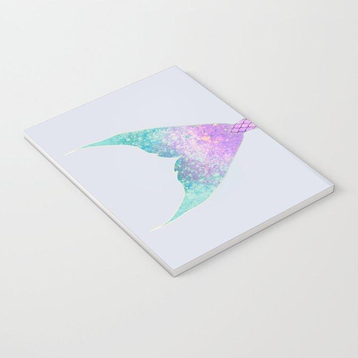 mermaid tail (purple & green) Notebook