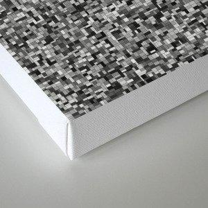 grayscale treemap mosaic - high contrast Canvas Print