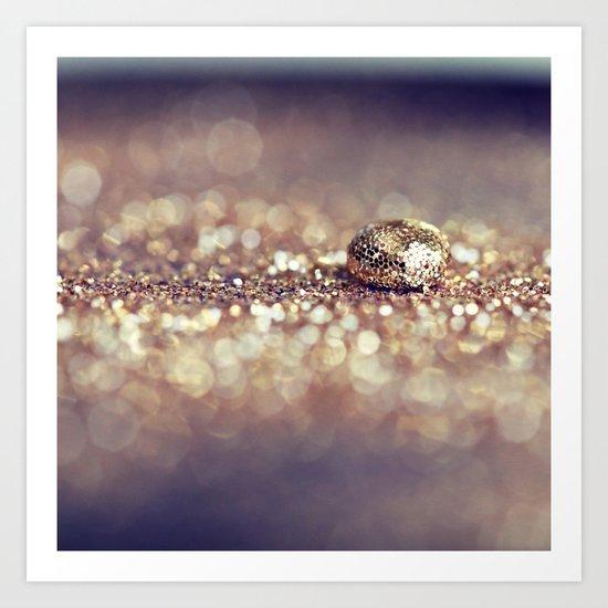 Gold Drop Art Print