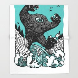 Kick Out The Dams! Throw Blanket