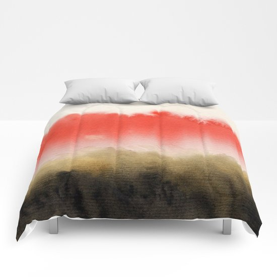 Watercolor abstract landscape 14 Comforters