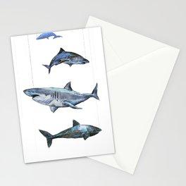 Four Sharks - by Fanitsa Petrou Stationery Cards