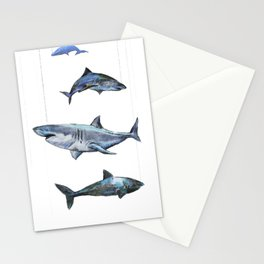 Four Sharks - by Fanitsa Petrou Stationery Cards