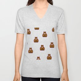 Beautiful booty - brown Unisex V-Neck