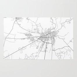 Minimal City Maps - Map Of Kutaisi, Georgia. Rug