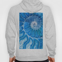 Blue colored Ammonite fossil Hoody