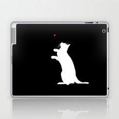 Cat and Laser Cute Minimalistic Animal Portrait Laptop & iPad Skin
