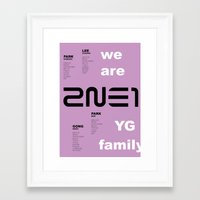 2ne1 Framed Art Prints featuring we are YG: 2NE1 by Jose López