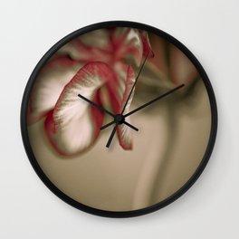 Geranium 2 Wall Clock