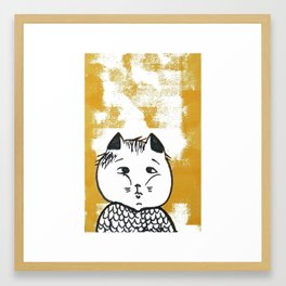 Kitty cat baby Framed Art Print