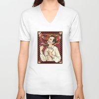 nouveau V-neck T-shirts featuring GOB Nouveau by castlepöp