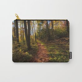 A Walk in the Forest - Leaves Cover Hiking Trail on Fall Day in the Great Smoky Mountains Carry-All Pouch
