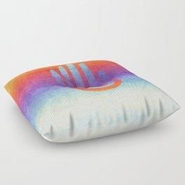 Spiral Hand Rainbow Grunge II Floor Pillow