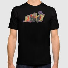 CRAYON LOVE - Shadows  MEDIUM Mens Fitted Tee Black