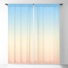 Seaside Pastel Pink Sunrise Ombre Blackout Curtain