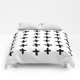 Black and white cross pattern. Modern. Scandinavian. Comforters
