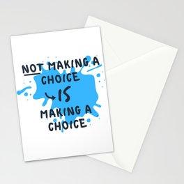 Make a Choice! (Blue) Stationery Cards