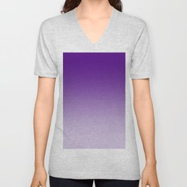 Violet to Pastel Violet Horizontal Linear Gradient Unisex V-Neck