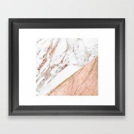 Marble rose gold blended Framed Art Print