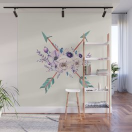 Floral Arrows Wall Mural