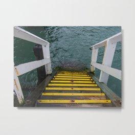Yellow Steps Down Metal Print