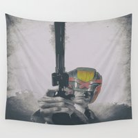 harry Wall Tapestries featuring Judge Harry by Robotic Ewe