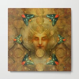 """Art Deco II The Chimera (Moth)"" Metal Print"