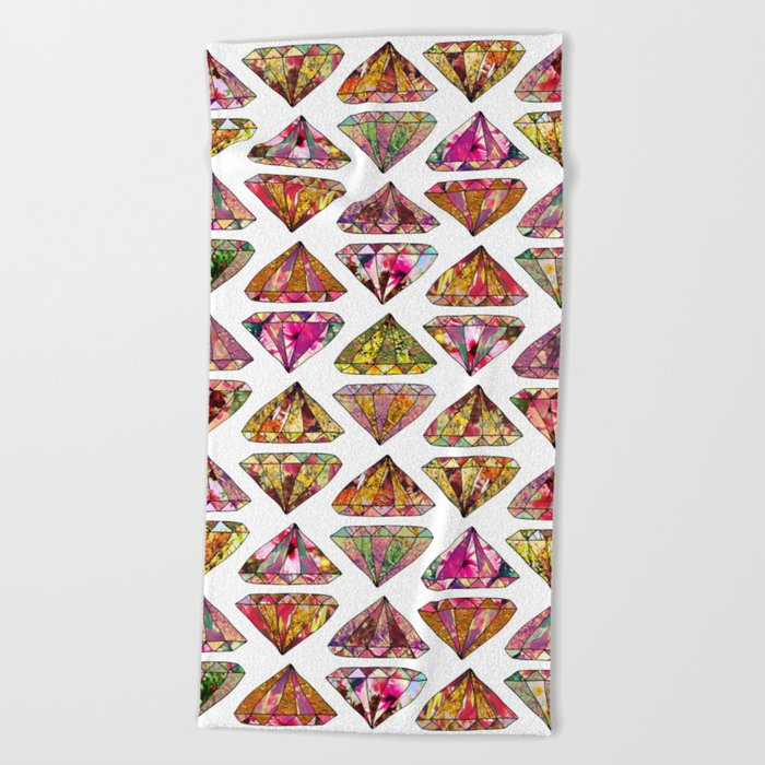 These Diamonds Are Forever Beach Towel