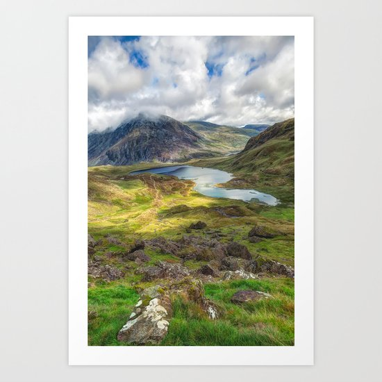 Welsh Lake  Art Print