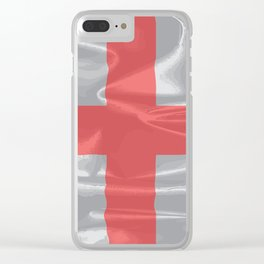 Silk Flag of England and Saint George Clear iPhone Case
