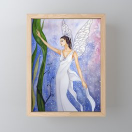 Lotus Fairy Framed Mini Art Print