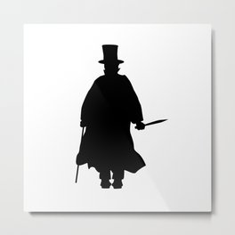 Jack the Ripper Silhouette Metal Print
