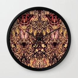 Honeysuckle, Butterflies and Moths Wall Clock